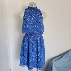 Womens Blue Floral Sleeveless A NEW DAY Mini Dress